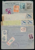 Uruguay, Csehszlovákia, Chile 1951-1954 4 klf levél Ausztriába