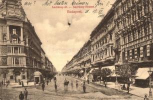 Budapest VI. Andrássy út, Deutsch F. Károly üzlete, fogorvos, Divald Károly kiadása (EK)
