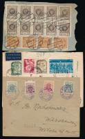 Lengyelország, Lettország 1919-1952 4 klf küldemény