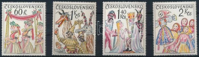 1975 Cseh és szlovák népszokások sor + kisívsor Mi 2248-2251