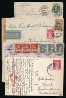 Törökország, Svájc 1885-1943 4 klf küldemény