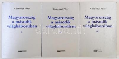 Gosztonyi Péter: Magyarország a második világháborúban. 1-3. köt. München, 1984, HERP. Papírkötésben, jó állapotban.