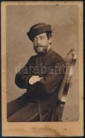 cca 1863 Kézdiszentléleki Kozma Gyula vizitkártya méretű, feliratozott fotója, Emilio Maza milánói műterméből, 10x6 cm