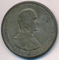 1930. 5P Ag Horthy jobbra T:2,2- patina Adamo P8