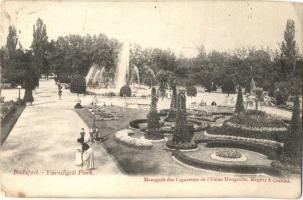 Budapest XIV. Városligeti park, Monopole des Cigarettes de lUsine Hongroise, Magyar & Csardas - magyar cigarettagyár reklámmal (EK)