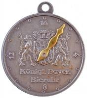 Németország DN II. Lajos - Bajorország királya / Királyi bajor söróra fém emlékérem, hátlapon számlappal és állítható órával az elfogyasztott sör mennyiségére T:2 Germany ND Ludwig II - König von Bayern / Königliche Bayerische Bieruhr commemorative medallion, with clock face for counting of Beers taken C:XF