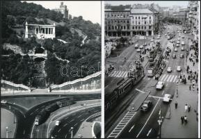 Budapesti régi és kevésbé régi villamosok, 6 db fotó, 9x13 cm és 13x18 cm