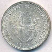 1938. 2P Ag Madonna T:1-,2  Adamo P7