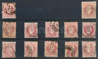 1867 12 db 5kr olvasható bélyegzésekkel