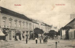 Szabadka, Subotica; Széchényi utca, Spitzer és Klein üzlete, Lipsitz kiadása / street, shops