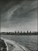 cca 1970 Velencei-tó, 3 db vintage fotó, 24x18 cm