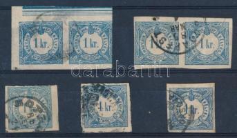 1868 7 db Hírlapilleték bélyeg