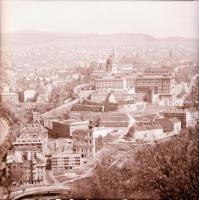 1967-1974 Budapesti városképek és épületfotók, 13 db szabadon felhasználható vintage negatív, 6x6 cm és 6x7 cm