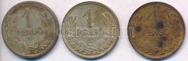 1926-1938. 1P Ag (3x) T:2,3 patina Adamo P6