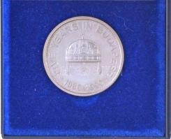 1990. Citibank Budapest / 5 év Budapesten Ag emlékérem (0.925/21.9g/30mm) díszdobozban T:1-(PP)