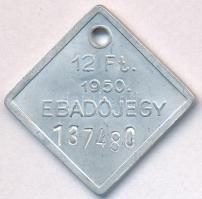 1950. 12Ft Ebadójegy T:2