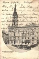 Budapest V. Szervita templom, Keller és Szabó, Purman üzletei (ázott sarkak / wet corners)