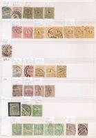 Klasszikus bélyegek nyomdai, fogazati stb. eltérésekkel, 2 berakólapon