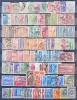 Románia összeállítás színárnyalatokkal, sok komplett sorral, szép bélyegzéssel, közte 5 nyomdahibás bélyeg, 8 lapos A/4 berakóban (Mi EUR 513.-)