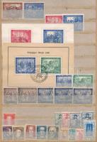1947-1948 Lipcsei vásár bélyegek klf színárnyalatokkal + néhány szövetségi állam bélyege, A/4 berakólapon