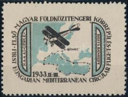 1933 Első magyar Földközi-tengeri körrepülés levélzáró