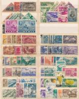 Libanon, Libéria, Etiópia kis összeállítás, főleg a kezdeti időszakból, A/4 berakólapon (min. Mi EUR 100.-)