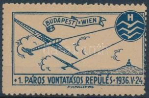 1936 Első páros vontatórepülés levélzáró