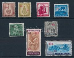 1968 Hivatalos bélyegek a Laoszban és Vietnamban tartózkodó indiai rendőri erők részére sor Mi 2-9