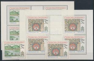 1977 Pozsonyi motívumok kisívsor + sor Mi 2418-2419