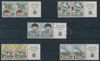 1977 Nemzetközi bélyegkiállítás sor szelvényes párokban Mi 2396-2400