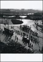 cca 1965 Budapest, Zalka Máté tér, Keveházi János (?-?) hagyatékában őrzött negatívról készült mai nagyítás 25x18 cm-es fotópapírra