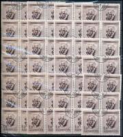 1955-1958 Kb. 200 db Bartók (barna) 1Ft párokban + kb. 137 db Repülő 20Ft záróérték főleg 10-es tömbökben, dossziéban (60.660.-)