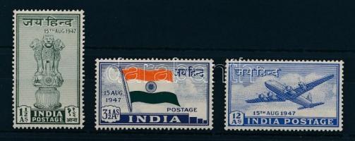 1947 Függetlenségi nyilatkozta sor Mi 183-185