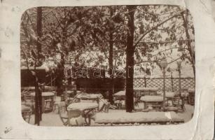 1913 Budapest I. Gellérthegy utca 3. Bleicher vendéglője, kerthelyiség télen, photo (fa)