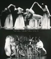 cca 1983 Győr, két jelenet a Győri Balett bemutató előadásáról, 2 db vintage fotó, 11x18 cm