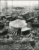 1979 Paks, Atomerőmű építése, vintage fotó, 22,5x17,5 cm