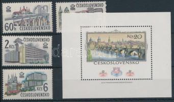 1978 Nemzetközi bélyegkiállítás sor Mi 2458-2462 + blokk Mi 36