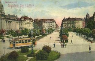Budapest V. Szabadság tér, villamos (EB)