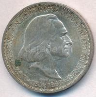 1936. 2P Ag Liszt Ferenc T:1-,2 patina Adamo P7.3