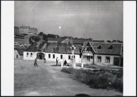 cca 1928 Budapest, Tabán, 4 db vintage negatívról készült mai nagyítás 18x25 cm-es fotópapírra