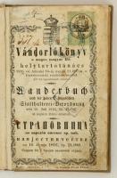 1816 Vándorkönyv, magyar, német, szerbhorvát nyelven, bejegyzésekkel, okmánybélyeggel