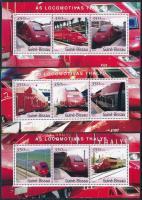 2001 Thalys vonatok 3 klf 3-as kisív Mi 1863-1871