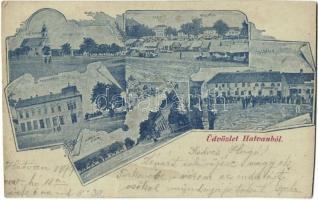 1899 Hatvan, Városháza, járásbíróság, takarékpénztár, posta (EK)