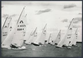cca 1960 Balatoni fényképek, 7 db fotó, 17,5x17,5 cm és 24x18 cm között
