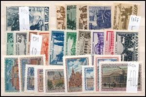 Szovjetunió 1940-es, 1950-es évekből 4 db klf sor (Mi EUR ~72,-)