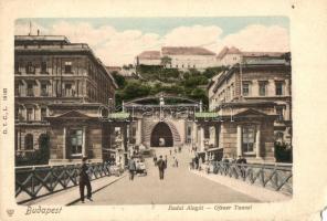 Budapest I. Budai alagút, D. T. C., L. 19103, Kanitz C. és Fiai kiadása (EM)