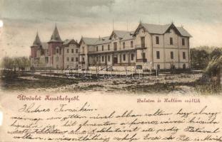 Keszthely, Balaton és Hullám szállók, Sujánszky József kiadása (b)