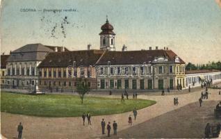Csorna, Premontrei rendház, Martincsevics Károly kiadása (ázott sarok / wet corner)