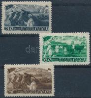 1948 Az ötéves terv teljesítése az állattenyésztésben sor Mi 1256-1258 (Mi EUR 100,-)