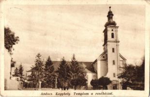 Andocs, Kegyhely, templom, rendház, Szent Ferenc-rend kiadása (EK)